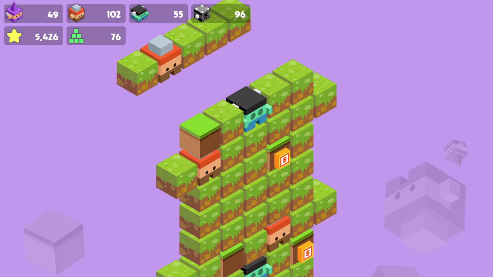 Build your own tower in Stacker style game.