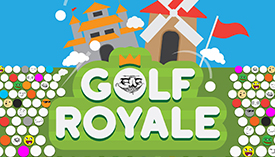 Golf Royale dot i o play mini golf with up to fifty opponents at once